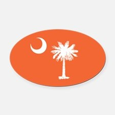 SC Palmetto Moon Oval Car Magnet