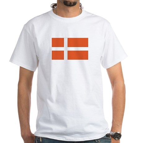 Denmark White T-Shirt