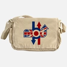 Retro Mod logo and arrows Messenger Bag
