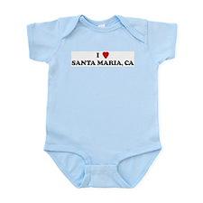 I Love SANTA MARIA Infant Creeper