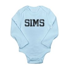 SIMS, Vintage Long Sleeve Infant Bodysuit