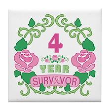 BCA 4 Year Survivor Tile Coaster