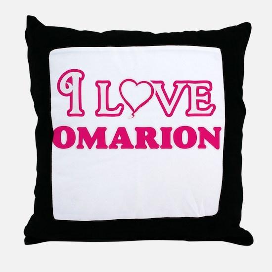I Love Omarion Throw Pillow