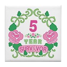 BCA 5 Year Survivor Tile Coaster