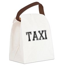 TAXI, Vintage Canvas Lunch Bag