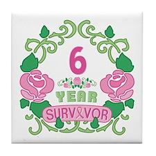 BCA 6 Year Survivor Tile Coaster