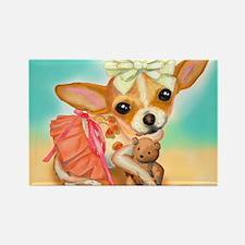 Chihuahua Princess Rectangle Magnet
