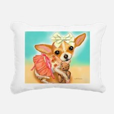 Chihuahua Princess Rectangular Canvas Pillow