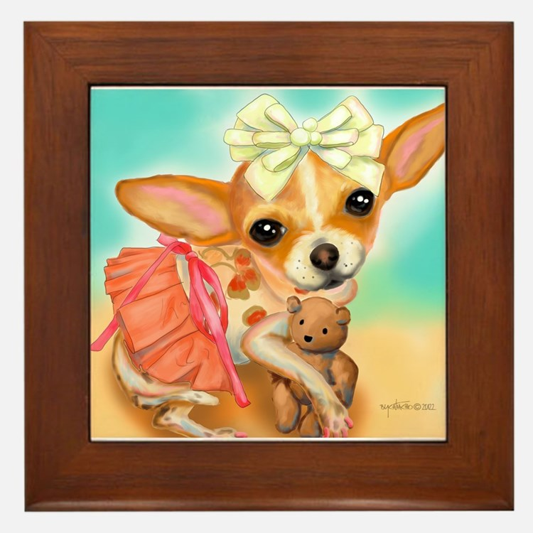 Chihuahua Princess Framed Tile
