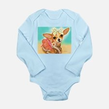 Chihuahua Princess Long Sleeve Infant Bodysuit
