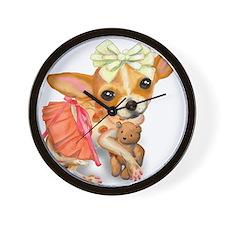 Chihuahua Princess Wall Clock