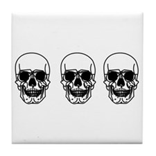 Tripple Skulls Tile Coaster