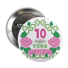 """BCA 10 Year Survivor 2.25"""" Button (10 pack)"""