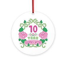 BCA 10 Year Survivor Ornament (Round)