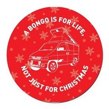 MAZDA BONGO IS FOR CHRISTMAS Round Car Magnet