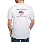God Made Paramedics Fitted T-Shirt