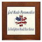 God Made Paramedics Framed Tile