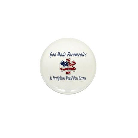 God Made Paramedics Mini Button (100 pack)