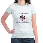 God Made Paramedics Jr. Ringer T-Shirt
