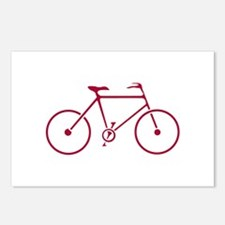 Red and White Cycling Postcards (Package of 8)