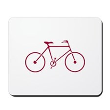Red and White Cycling Mousepad