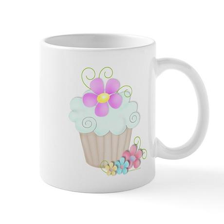 Aqua Cupcake Mug