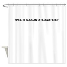 Generic Slogan, Logo Shower Curtain
