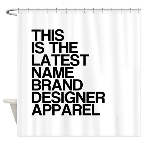 Name Brand Shower Curtain By TheCafeMarket