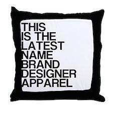 Name Brand Throw Pillow