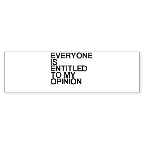 Funny, My Opinion, Sticker (Bumper)