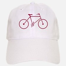 Red and White Cycling Baseball Baseball Cap