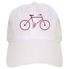 Red and White Cycling Baseball Cap