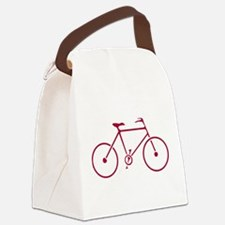 Red and White Cycling Canvas Lunch Bag