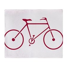 Red and White Cycling Throw Blanket