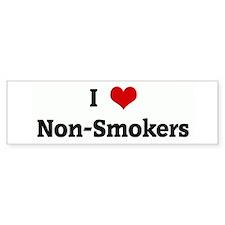 I Love Non-Smokers Bumper Bumper Sticker