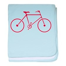 Red and White Cycling baby blanket