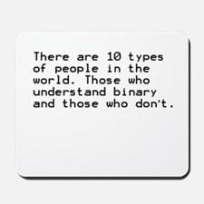 Funny, Binary Mousepad
