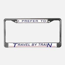 Travel by Train License Plate Frame