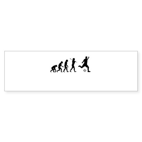 Soccer, Evolved To Play, Sticker (Bumper)