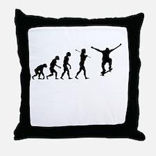 Skateboarding Evolution Throw Pillow