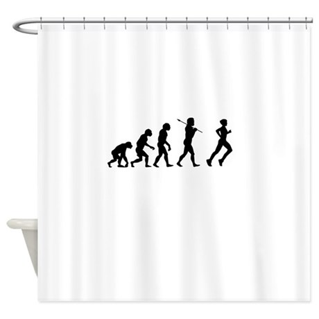 Evolved To Run Shower Curtain