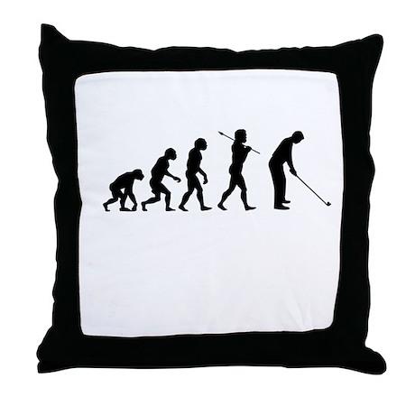 Golfer Evolution Throw Pillow