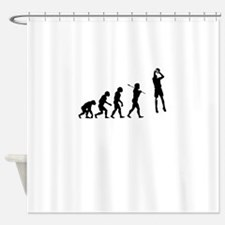 Evolved To Ball - Basketball Shower Curtain