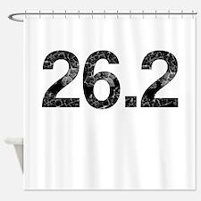 26.2, Vintage, Shower Curtain