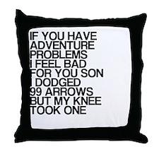 100 Problems, Knee Arrow Rhyme Throw Pillow