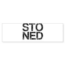STONED, Vintage, Bumper Sticker