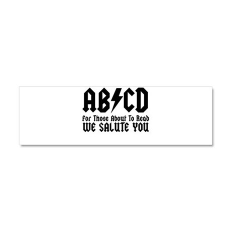 ABCD, We Salute You, Car Magnet 10 x 3