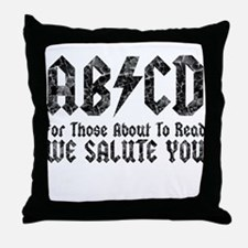 ABCD, We Salute You, Throw Pillow