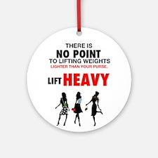 Hot Girls Lift Heavy Ornament (Round)