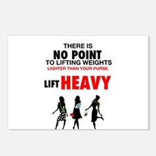 Hot Girls Lift Heavy Postcards (Package of 8)